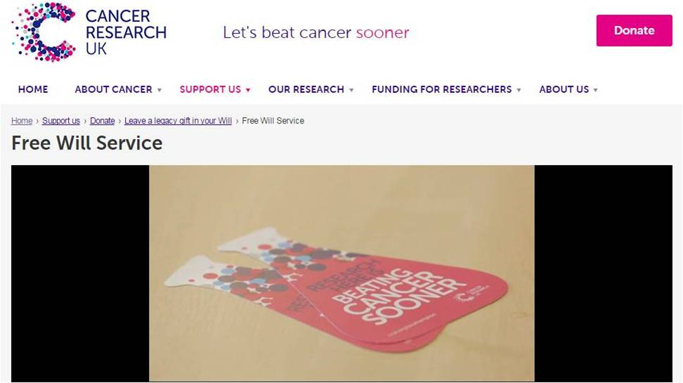 Cancer research screen grab
