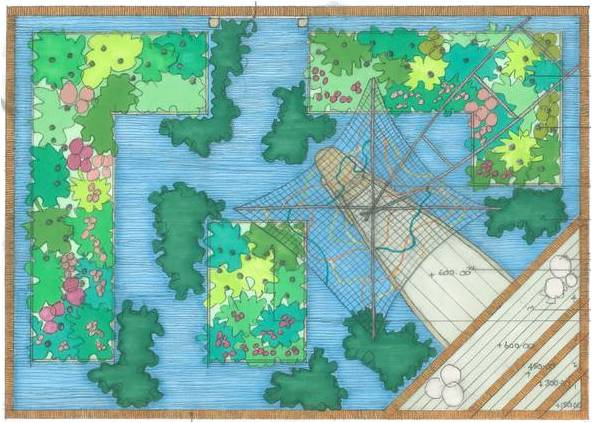 Viking River Cruises garden sketch Royal Horticultural Society Media Image Collection