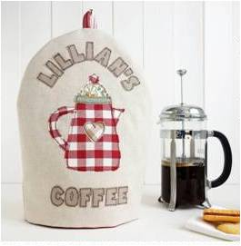 For coffee lovers: Personalised Cafetiere Cosy