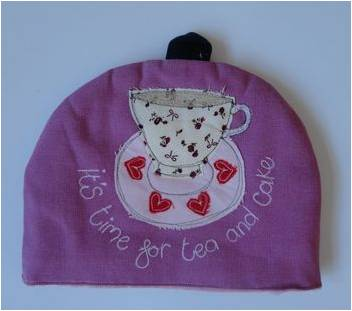 The Fine Cotton Company It's Time For Tea And Cake Small Tea Cosy